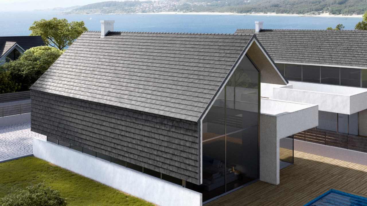 Łupek na dachu